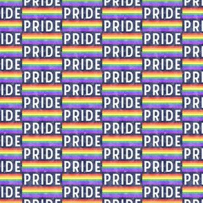 (micro scale) PRIDE - rainbow stripes - LGBT - blue retro wash - LAD20BS