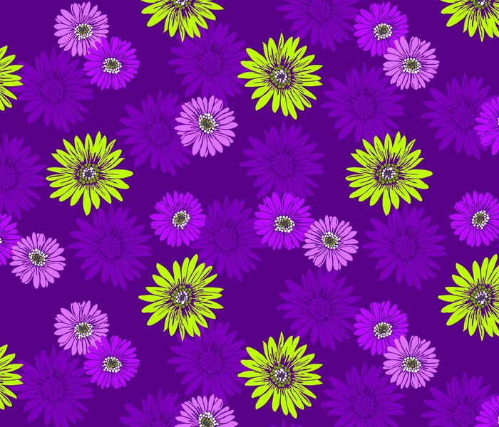 Daisy Daze Festival Floral in Purple