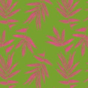 Bamboo leaf in pink and green