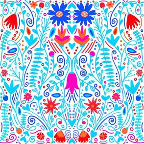 Bright summer flowers / Bright color pop florals