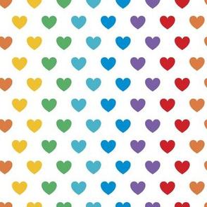 Rainbow Hearts | Bright