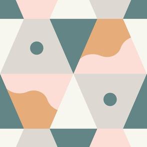 Hexy Wave - Terracotta