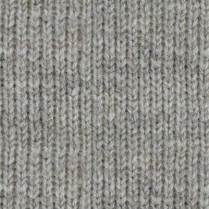 Handspun knitted fabric - natural