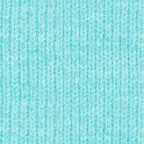 Handspun knitted fabric - aqua