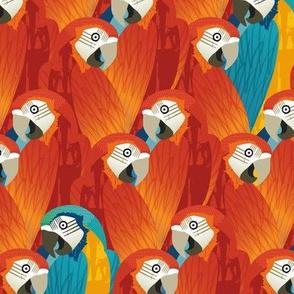 A Pandemonium of Parrots - RED