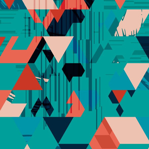 Kaleidoscope of triangles-EMERALD large