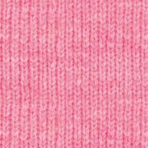 Handspun knitted fabric - pink