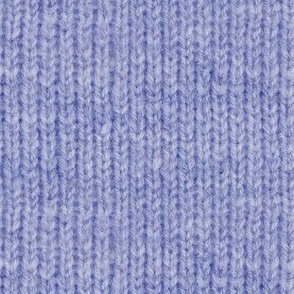 Handspun knitted fabric - denim blue