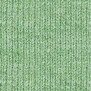 Handspun knitted fabric - green