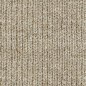 Handspun knitted fabric - brown