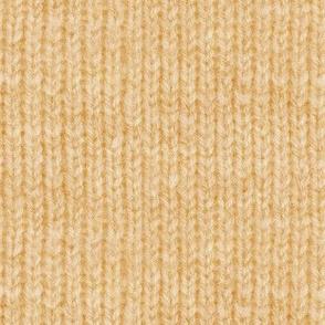 Handspun knitted fabric - apricot