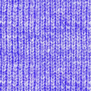 Handspun knitted fabric - primary blue
