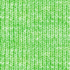Handspun knitted fabric - lime