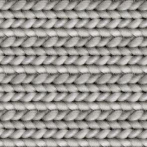 Handspun knitted fabric - burnt orange