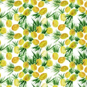 Sweet pineapples from Seychelles - tiny scale - watercolor tropical p290