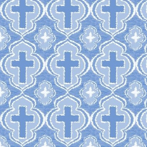 Christian Cross Baby Blue
