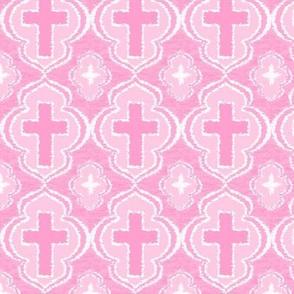 Christian Cross Baby Pink