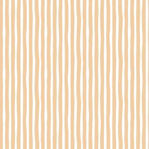 Boho strokes and circus stripes modern Scandinavian style minimal vertical lines basic neutral nursery butter apricot blush white