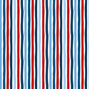 Little strokes USA 4th of July striped basic stripes texture SMALL navy blue red