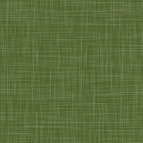 Solid Linen - Dark Leaf Green (Enchanted Forest)