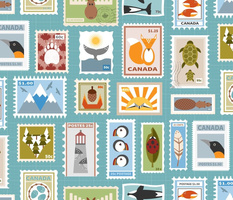 Canadian Stamp Set