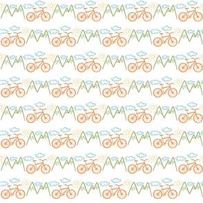 Bike and mountains
