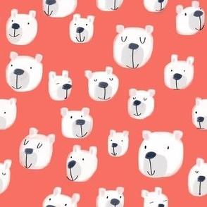 Smiling Bears Crayon Red