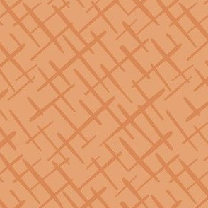 Paintbrush Crosshatch Warm Peach