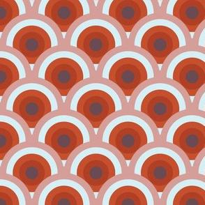 bottle fan small - russet/plum