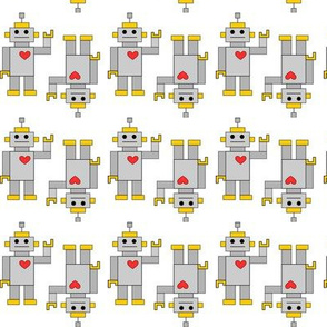 Grellow Robots with hearts