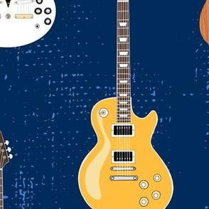 "Guitar Vibe - Blue - Jumbo 10.5"""