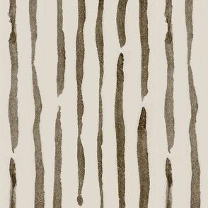 Watercolor Pinstripes - brown & beige