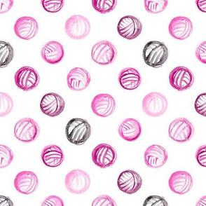 Mauve Watercolor Yarn Balls