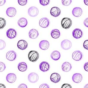 Purple Watercolor Yarn Balls