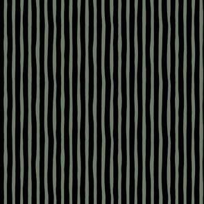 Boho strokes and circus stripes modern Scandinavian style minimal vertical lines basic neutral nursery army camo green black
