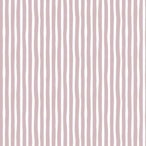 Boho strokes and circus stripes modern Scandinavian style minimal vertical lines basic neutral nursery mauve purple white