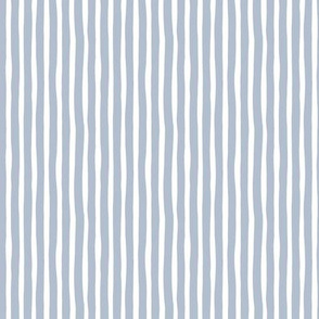 Boho strokes and circus stripes modern Scandinavian style minimal vertical lines basic neutral nursery soft cool blue white