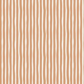 Boho strokes and circus stripes modern Scandinavian style minimal vertical lines basic neutral nursery latte caramel brown white