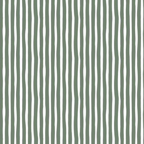 Boho strokes and circus stripes modern Scandinavian style minimal vertical lines basic neutral nursery camo green army white