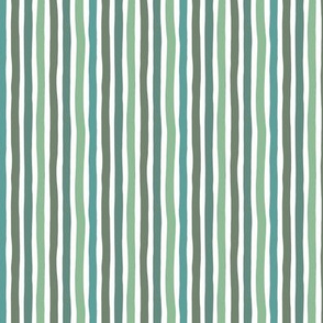 Boho strokes and circus stripes modern Scandinavian style minimal vertical lines basic neutral nursery green forest sage palette