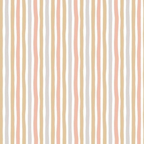 Boho strokes and circus stripes modern Scandinavian style minimal vertical lines basic neutral nursery neutral gray yellow peach