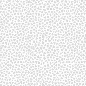 Minimal geometric spots abstract terrazzo print neutral nursery soft gray on white