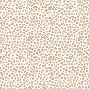 Minimal geometric spots abstract terrazzo print neutral nursery latte beige neutral
