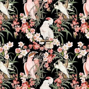 BARKCLOTH BIRDS (BLACK)
