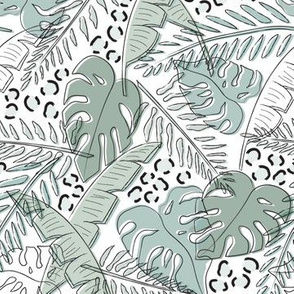 Jungle Greenery/Animal Print (small)