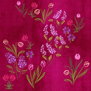Walk Among The Tulips Raspberry