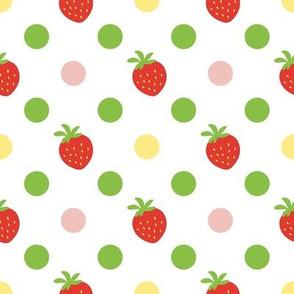 Strawberry & polka-dot
