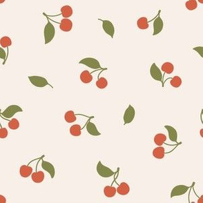 Cherry berries. Summer design. Small size.