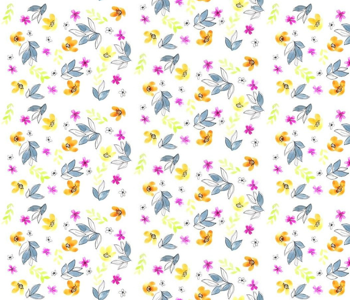 Meraki Bright Floral Doodle