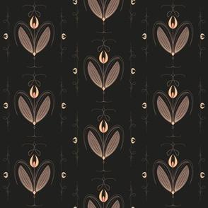 Tulip Nouveau - Charcoal